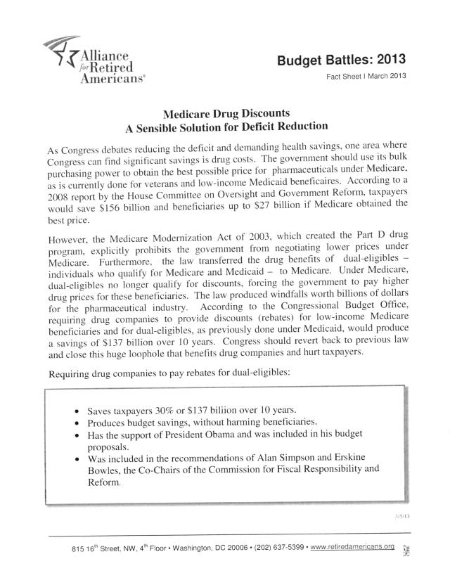 Medicare Drug Discounts
